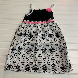 Healthtex black/white/pink girls dress size 5T